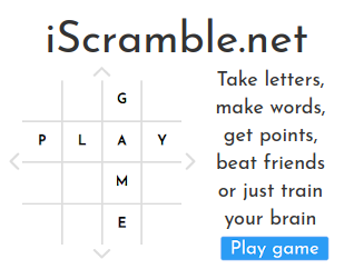 iScramble! (similar to scrabble)